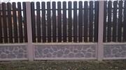 Производство,  монтаж,  доставка ограждений из бетона и металла